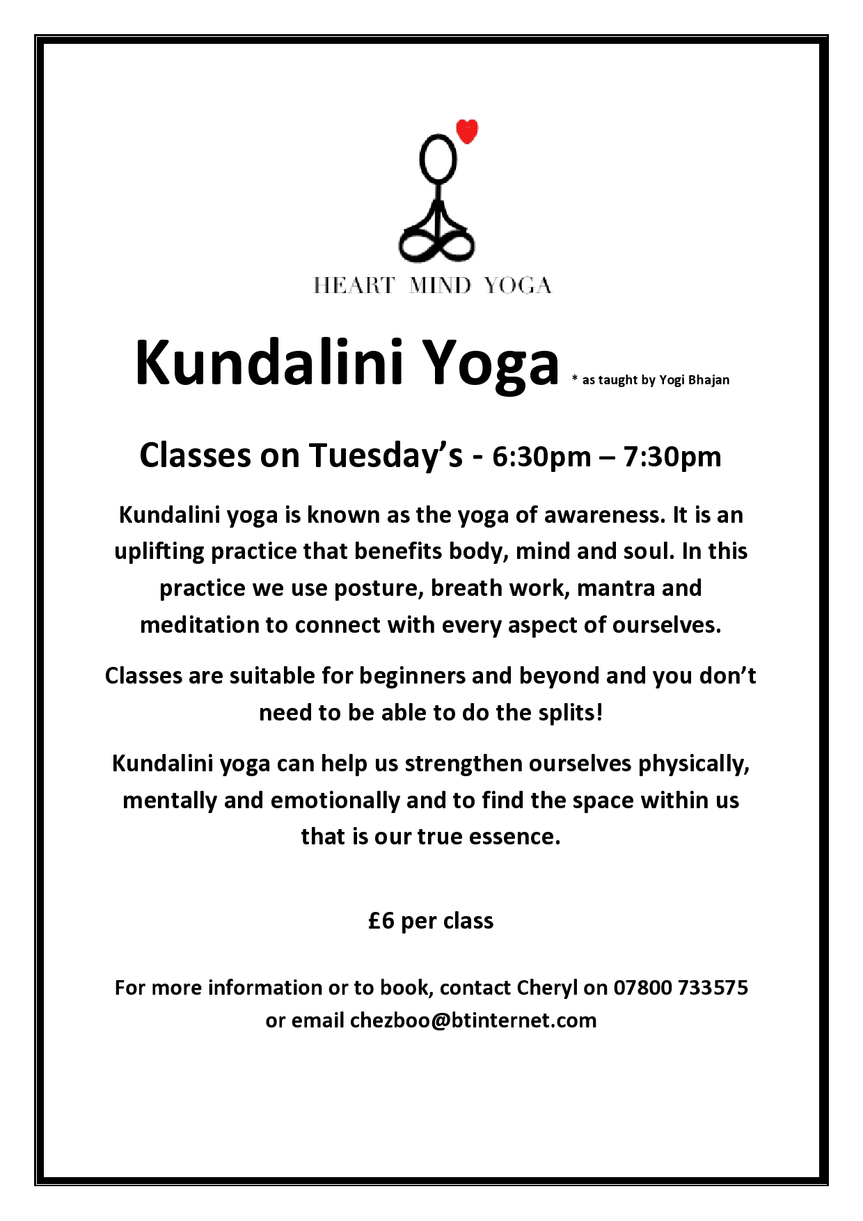 Kundalini Yoga A4 flyer page0001
